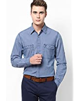 Blue Full Sleeves Casual Shirts