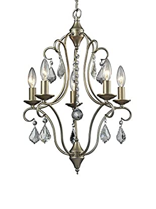 Artistic Lighting Chandelier, Aged Silver
