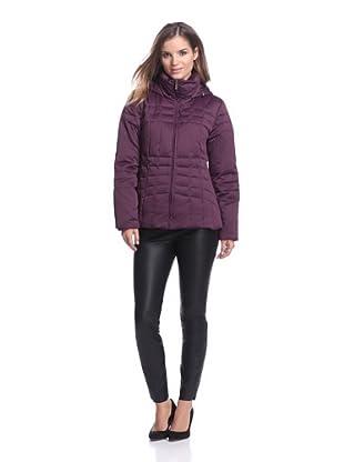 Calvin Klein Women's Down Jacket (Black/Plum)