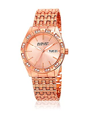 August Steiner Uhr mit japanischem Quarzuhrwerk  rosé 32 mm