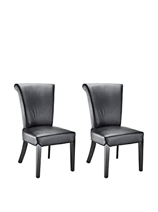 Safavieh Set of 2 Kiera Side Chairs, Black