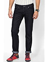 Navy Blue Regular Fit Jeans (Floyd)