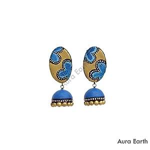 AUrA-EArTH Flora Jhumkas
