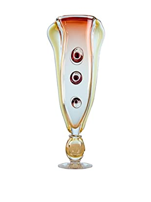 FusionZ Sea Symphony Vase (Red/Amber)