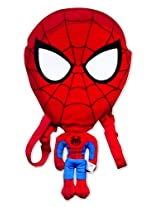 Disney Amazing Spiderman Bag, Red/Blue (16-inch)