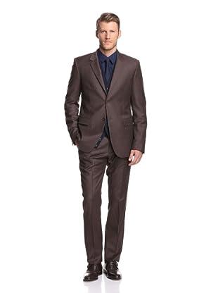 Calvin Klein Collection Men's Bowery 2-Button Suit (Cafe)