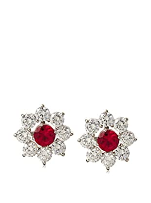 CZ by Kenneth Jay Lane Set of 3 Floral CZ Donut Earrings