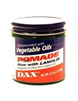 Dax Pomade (Bergamot) 3.5oz Jar (2 Pack)