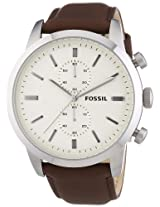 Fossil End-of-Season Townsman Chronograph Off-White Dial Men's Watch - FS4865
