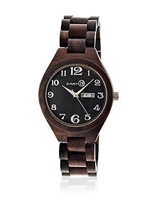 Earth Watch Uhr mit Japanischem Quarzuhrwerk Sapwood dunkelbraun 41 mm