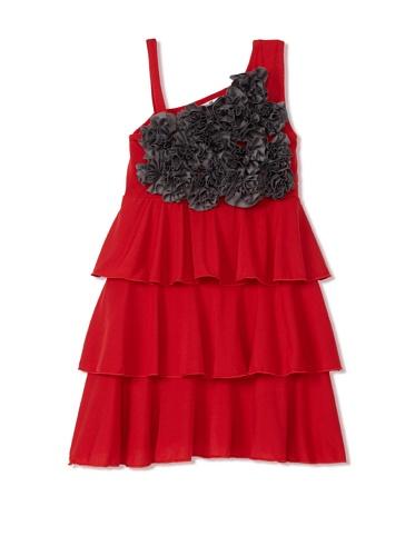 Lilo Girl's Delirium Dress (Red/Gray)