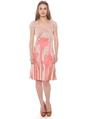 Divina Providencia Vestido Flores (Rosa)