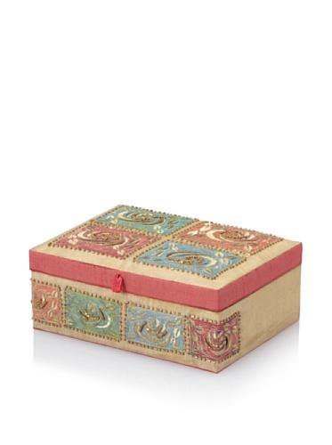 Purva Rose Jewelry Box, Beige