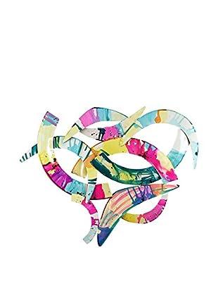Arte Dal Mondo Panel Decorativo Edgar Ramirez Cuore Intrecciato