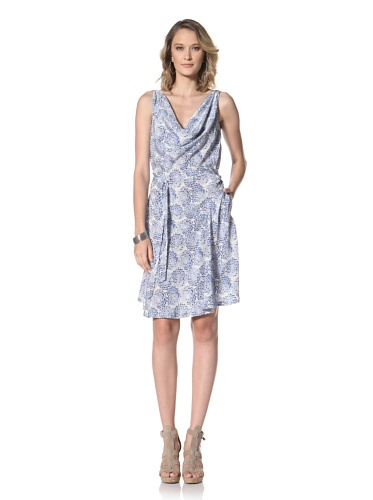 Paul & Joe Women's Sangri Sleeveless Cowl Neck Dress (Blue)