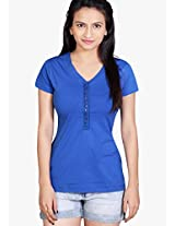 Blue Solid Top Tantra