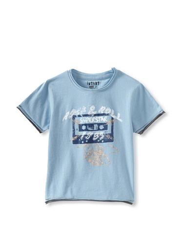 iNTAKT Boy's Cassette Tape Tee (Medium blue)
