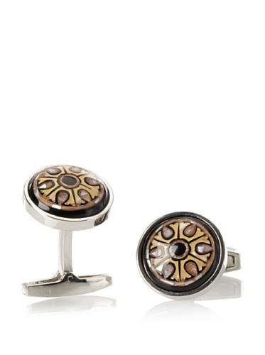 Daniel Dolce Men's Mosaic Cufflinks, Brown