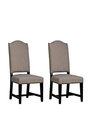 Orient Express Set of 2 Madrid Side Chairs, Almond