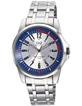Q&Q Standard Analog White Dial Men's Watch Q708J224Y