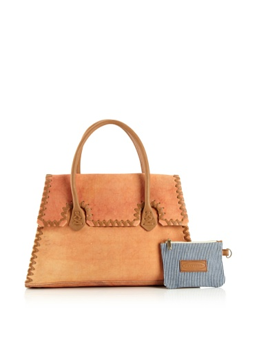 Jamie Young Handbags Women's Whipstitch Handbag (Orange Vintage Canvas)