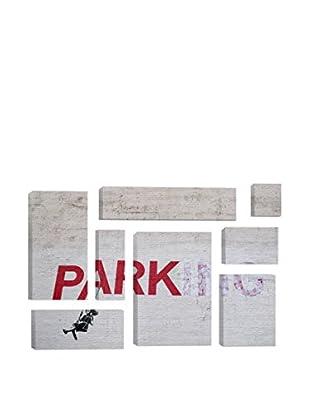 Banksy Parking Girl Swing 8-Piece Giclée On Canvas