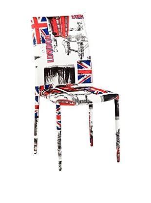 CRIBEL Stuhl 4er Set Londra mehrfarbig