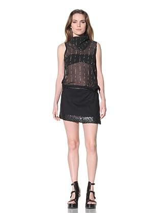 Ann Demeulemeester Women's Snap Trim Skirt (Black)