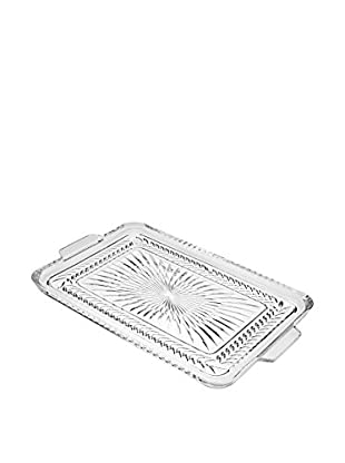 Godinger Large Symphony Gallery Tray, Clear Crystal