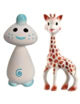 Vullie Sophie and Giraffe Chan Blue - Natural Rubber and Food Paint Details Set of 2