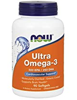 NOW Foods Ultra Omega 3 Fish Oil, 90 Softgels