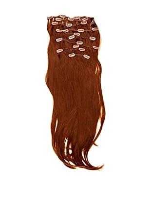 Love Hair Extensions Haarverlängerung Komplett-Set Silky Straight Thermofaser 45cm Topaz 10 Haarteile