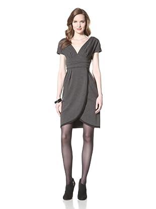 Z Spoke Zac Posen Women's V-Neck Dress (Smoky Grey)