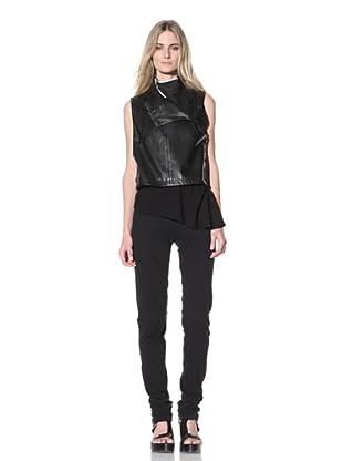 Ann Demeulemeester Women's Leather Waistcoat (Black)