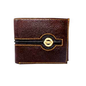 Wrangler Elegant stylish Genuine leather 4 inches bifold Brown wallet