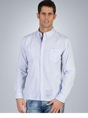 PEPE JEANS davis eton shirt davis eton shirt weiß, hellblau XL
