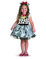 Disguise Costumes Disney 101 Dalmatians Classic Costume, White/Black, Girls Large 4-6X
