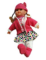 Lucky Zone Kids Musical Baby Doll (White & Pink )