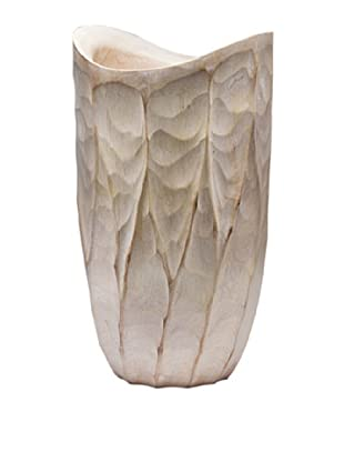 Dynasty Gallery Hand Carved Flame Vase (Brown)