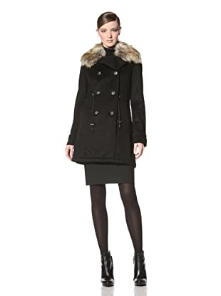Laundry by Shelli Segal Women's Melton Jacket (Black)