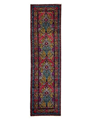 Solo Rugs Crafts Hand-Knotted Rug, Silver 2' 7