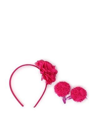 Liliella Rose Headband and Hairclip Set