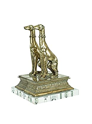 Couture Regal Dog Bookends, Opulent Silver