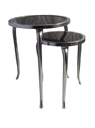 Zanzi Set of 2 Marble Top Nesting Tables