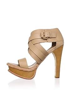 L.A.M.B. Women's Anika Platform Sandal (Tan)