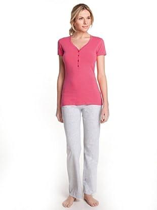 ESPRIT Bodywear Damen Schlafshirt, R1457/SINGLE SHIRTS (Pink (PE))