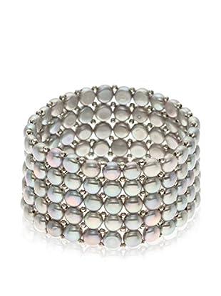 Compagnie générale des perles Pulsera plata de ley 925 milésimas rodiada