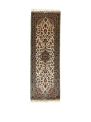 L'Eden del Tappeto Teppich Kashmirian F/Seta braun/ecru 186t x t63 cm