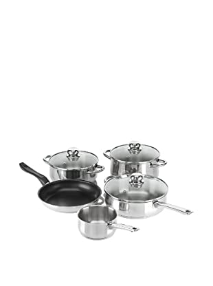 Fagor - Bateria De Cocina Vienaplus, 8 Piezas, Inox, 1 Olla, 2 Cacerolas, 1 Sartén Y 1 Cazo