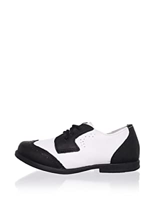 Ortopasso Kid's Dress Shoe (White/Black)